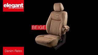 Denim Retro Car Seat Covers   Designer Seat Covers   Quality Fabric Seat Cover
