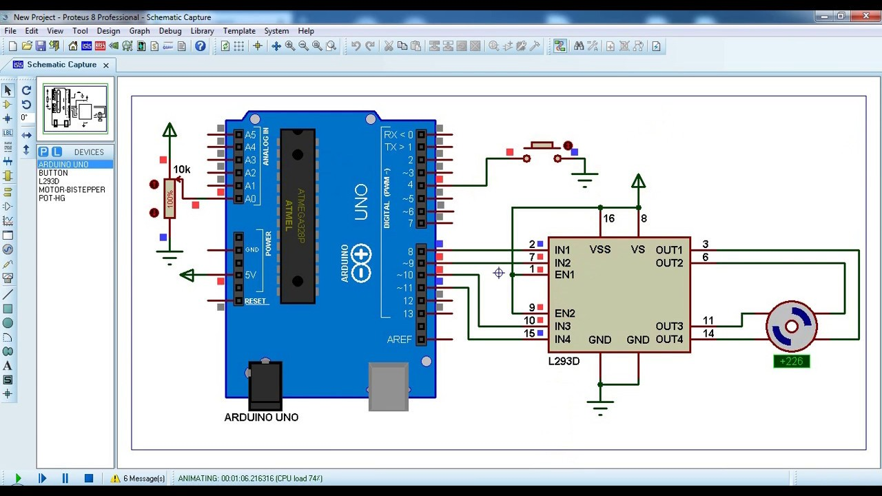 Arduino Bipolar Stepper Motor Control - Simple Projects on