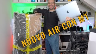 UNBOXING MacBook AIR M1 e MONITOR GIGANTE! con prime impressioni d'uso