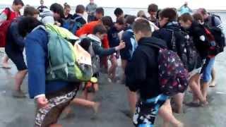 L'école de rugby dans les sables mouvants du Mont Saint-Michel - 21 avril 2014