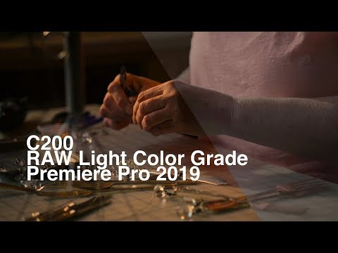 How to color grade Canon C200 raw light footage in Premiere