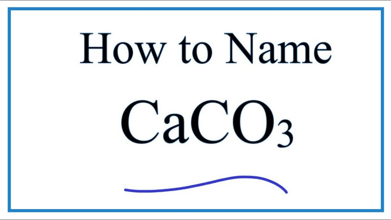 Writing The Name For Caco3 And Lewis Structure Youtube