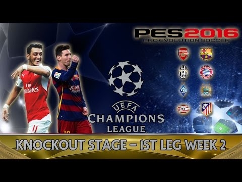 PES 2016 Champions League Last 16 1st leg Week 2 - Arsenal vs Barcelona
