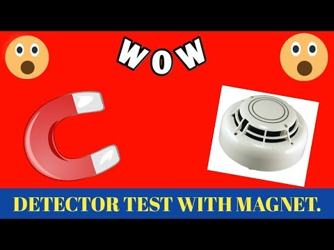 TESTING OF A SMOKE DETECTOR BY MAGNET