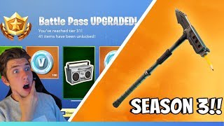 FORTNITE SEASON 3 IS HERE! BUY BATTLE PASS! (+ shows what's new)