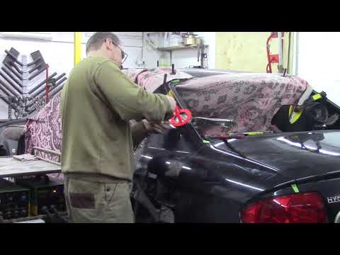 Хендай Соната, день 4. Body repair after an accident.