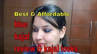 3 kajal looks in 1 min /Blue smokey eyes in 1 min / best affordable #blue heaven blue kajal review