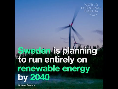 Sweden is planning to run entirely on renewable energy by 2040