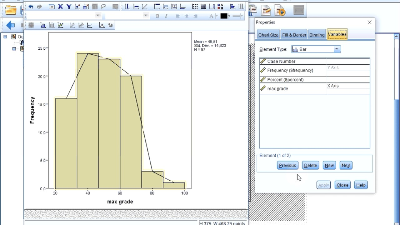 Spss diagrams frequency polygon of scale from histogram youtube spss diagrams frequency polygon of scale from histogram ccuart Images