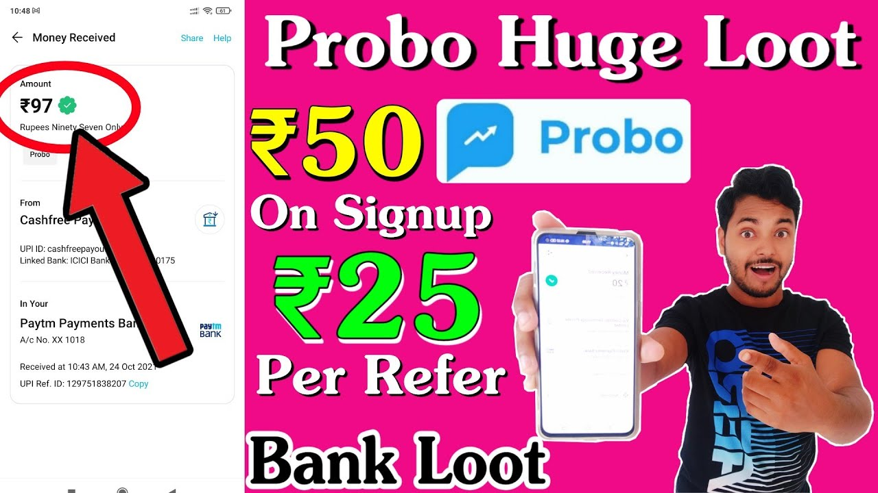 Probo App Trick 🔥 Earn ₹50 On signup and ₹25 Per Refer, Trade and Win Huge Money Instantly in Bank