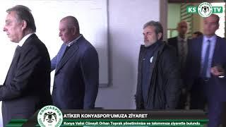 Konya Valisi Cüneyit Orhan Toprak yönetimimizi ve takımımızı ziyaret etti