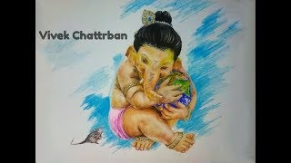 Drawing Ganesha   Happy Ganesh Chaturthi 2018   VIVEK CHATTRBAN