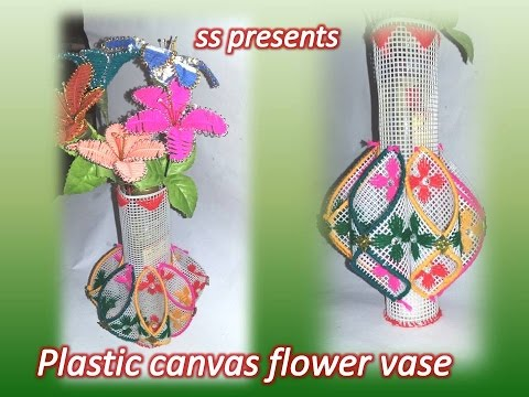 How To Make Vase Use With Plastic Canvas Plastic Canvas And