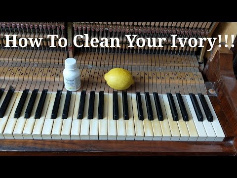 How To Clean Your Ivory And Make It White Again!