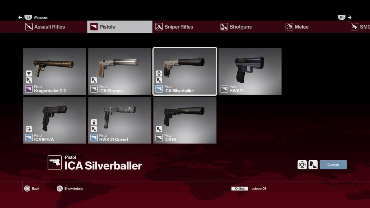 Hitman All Weapons All Gear All Suits September 24 2016 Youtube