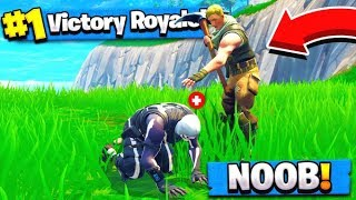 NOOB RETTET SCHÄDEL TROOPER HAUT! (Fortnite Battle Royale)