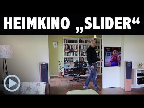heimkino slider wohnraum installation mit beamer und fernseher elegant versteckt youtube. Black Bedroom Furniture Sets. Home Design Ideas