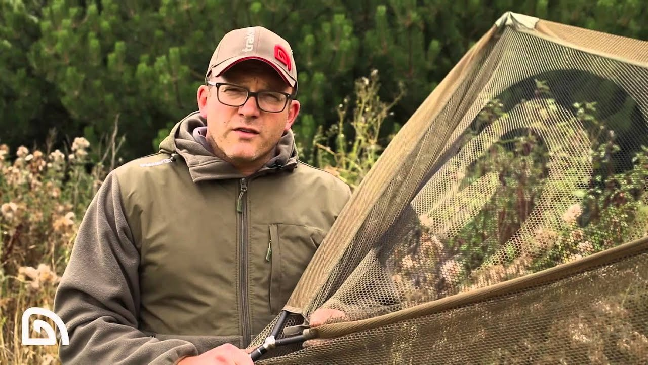 "Trakker EQ  42/"" Landing Net and 2pc Handle Carp fishing tackle"