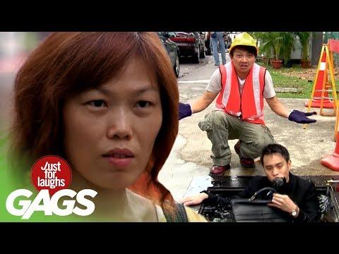 Guy Comes Out Of Sewers - JFL Gags Asia Edition