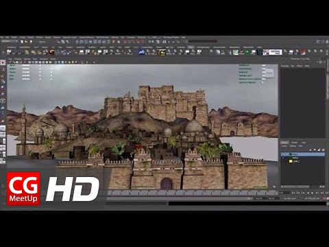 "CGI 3D Tutorial HD: ""Creating An Ancient Persian City in 3D"" Part 2 by Mike Stoliarov"