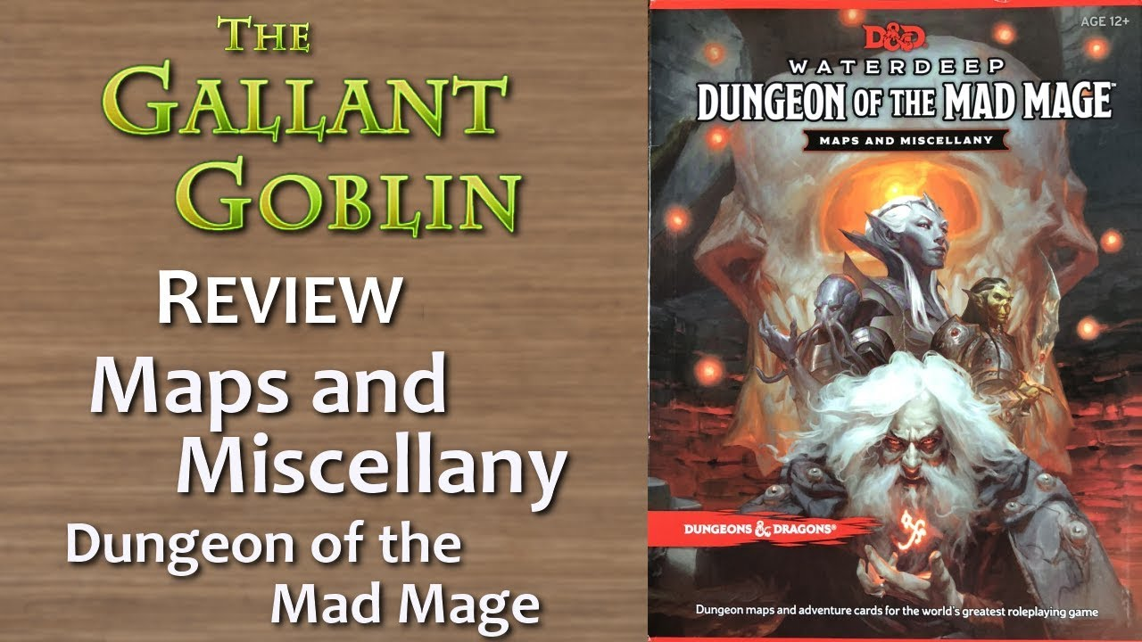 Maps and Miscellany - Dungeon of the Mad Mage - D&D