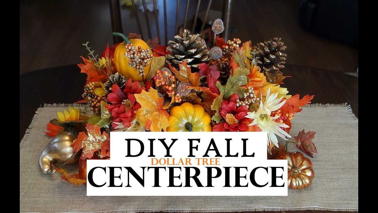 How to make a fall centerpiece dollar tree decor youtube