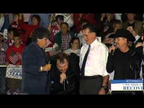 Meat Loaf Serenades (not very well) Mitt Romney With