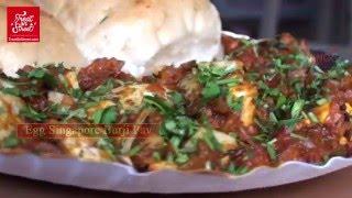 Mumbai Street Food  - Chicken Egg Frankie -  Egg Singapori burji Pav -Area Lower Parel