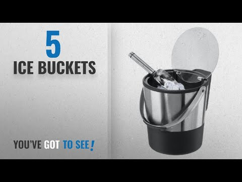 Top 10 Ice Buckets [2018]: Oggi Double Wall Ice Bucket with Flip Lid and Stainless Ice Scoop