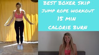 15 min Jump rope workout with boxer skipping drills