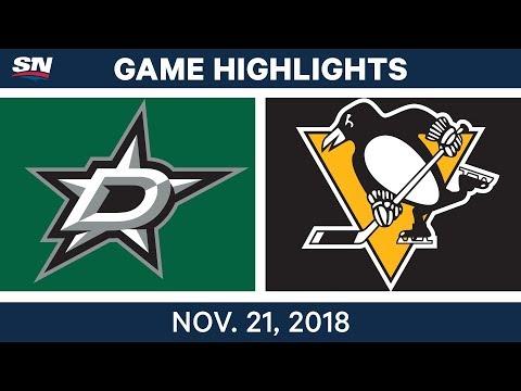 NHL Highlights   Stars vs. Penguins – Nov. 21, 2018