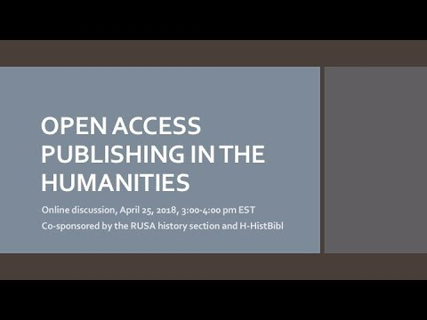 Open Access Publishing in the Humanities