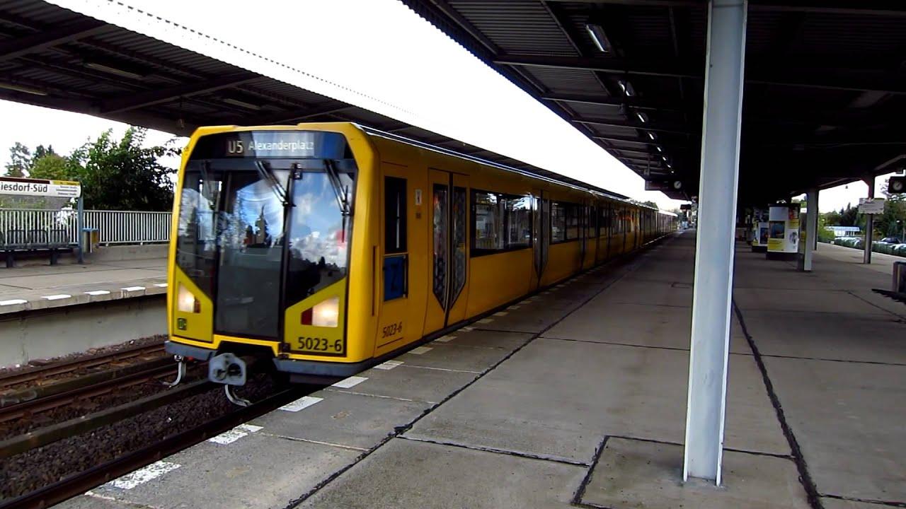 U-Bahn Berlin H- und F-Züge im Pendelverkehr in Biesdorf ...