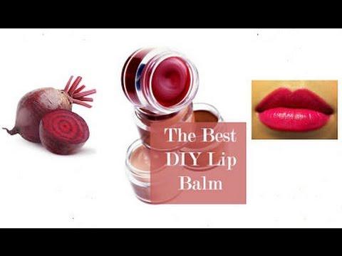 Homemade Lip balm | beetroot lipbalm