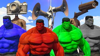HULK ARMY | BLUE HULK & RED HULK & GREY HULK VS SIREN HEAD - What If Battle Superheroes