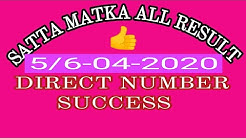 SATTA MATKA RESULT KALYAN MATKA  5/6-04-2020 Direct Number Success