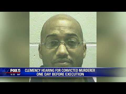 Clemency hearing for convicted murderer day before execution