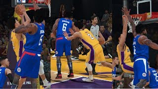 NBA 2K18 Mycareer 8th Triple Double Lonzo Ball Vs Clippers Part27 Fierce