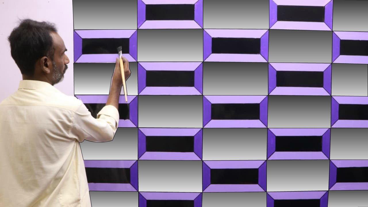 3D wall painting   Bedroom wall paint design ideas   wall art decoration   interior design