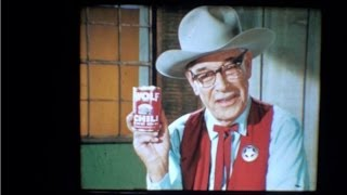 Wolf Brand Chili Old West Cowboy Western Vintage Tv Commercial