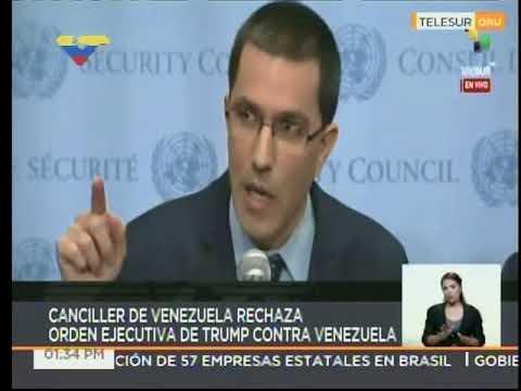 Canciller venezolano Jorge Arreaza desde la ONU sobre nuevas sanciones de Trump