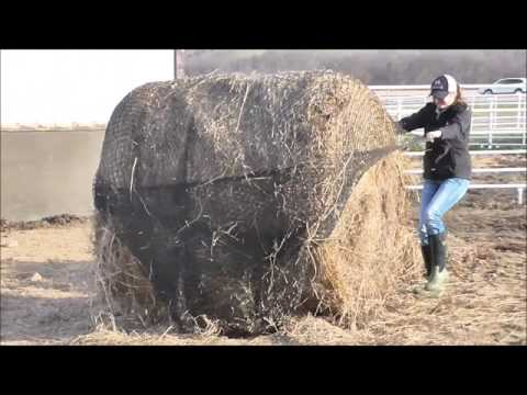 How To Put Hay Net On A Round Bale