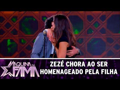 Zezé chora ao ser homenageado pela filha | Máquina da Fama (24/07/17)