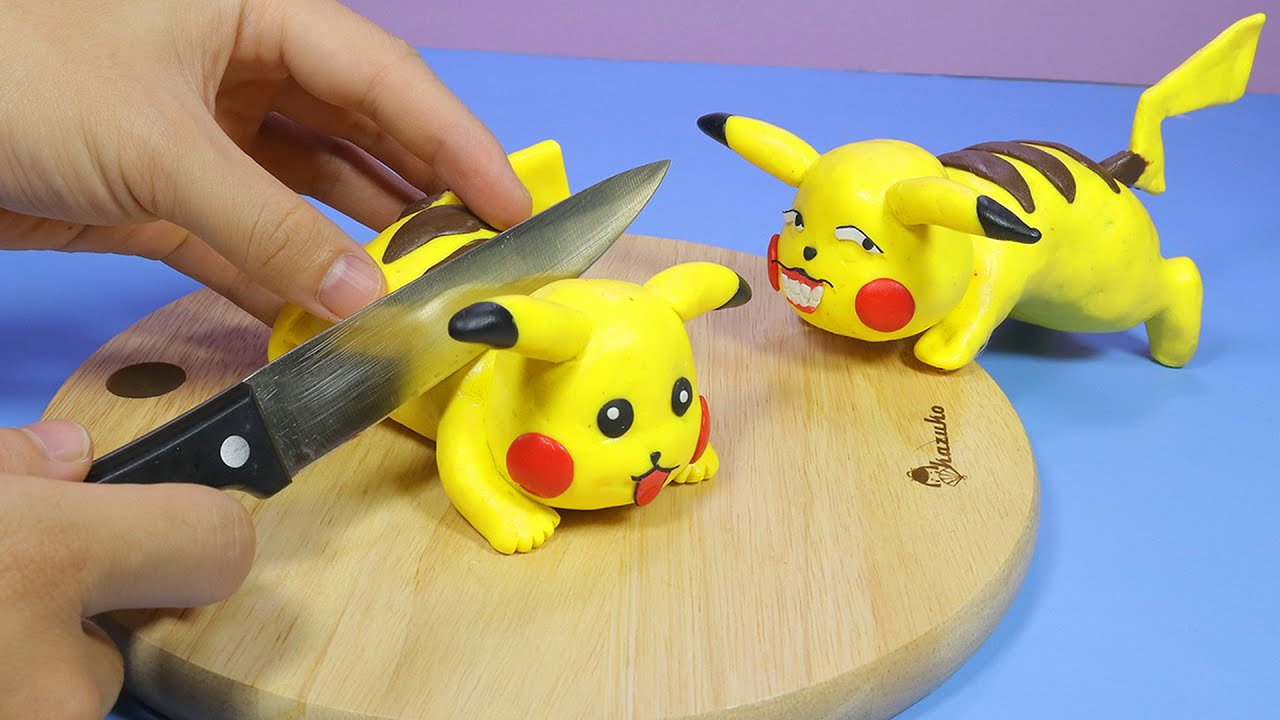 Stop Motion Cooking - The Pikachu's Doping Meal - Pokemon ASMR 4K асмр