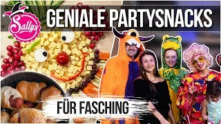 Party Snacks / das perfekte Buffet / Karneval / Sallys Welt