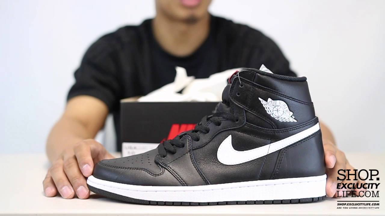 f975571622 ... denmark air jordan 1 high retro black white premium essentials unboxing  video at exclucity youtube 6795a
