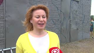 В Омске художники начали работу над граффити ко Дню России