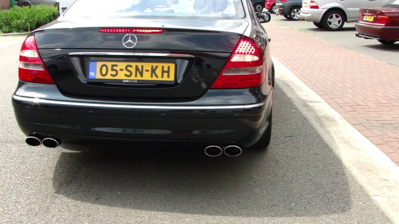 Mercedes E500 W211 Exhaust Sound Amg Look Uitlaat Sportuitlaat By