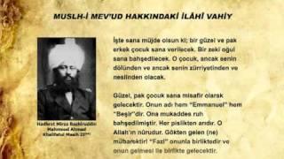 Divine Revelation Concerning Hadhrat Mulseh Maud (ra) (Turkish)