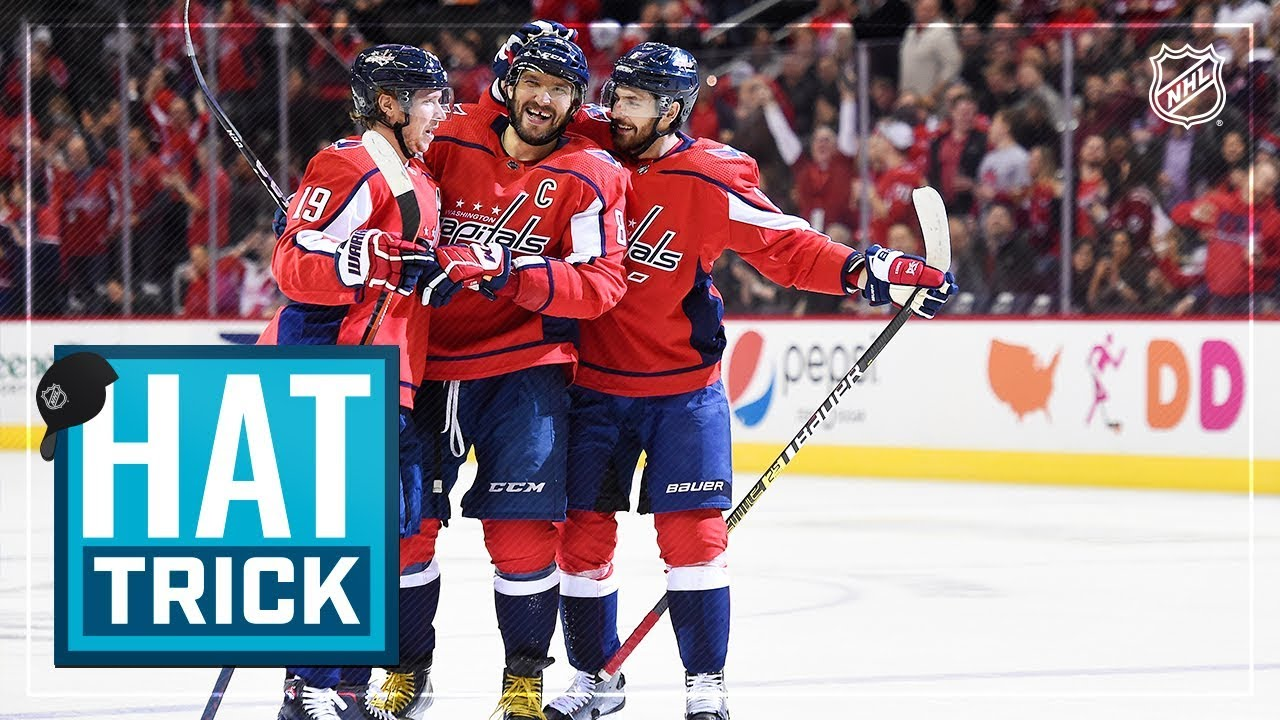 Alex Ovechkin leads Capitals with 21st career hat trick - YouTube ab0ed290fb7